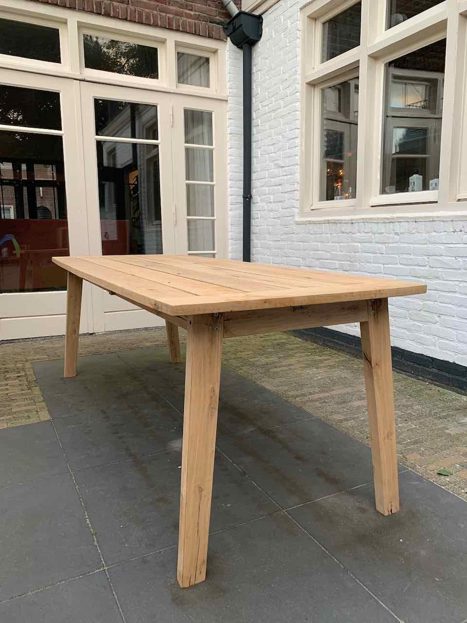 houten tuintafel op maat