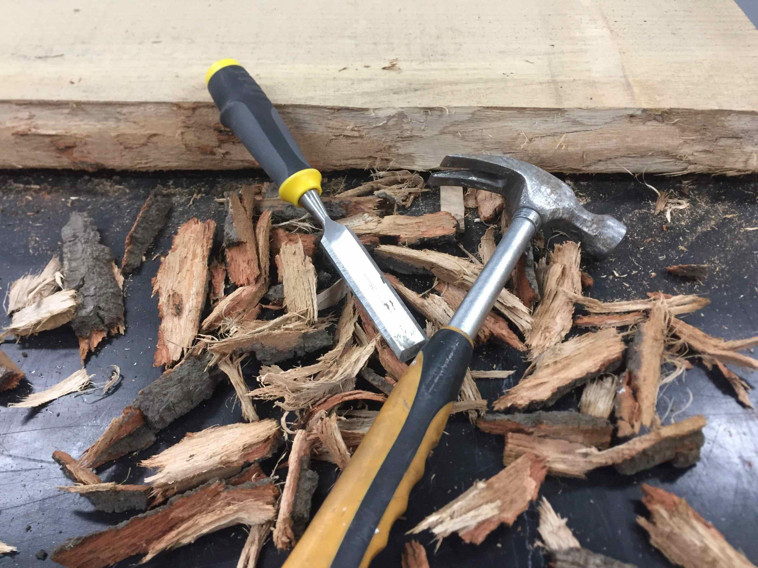 bijzettafel staal hout